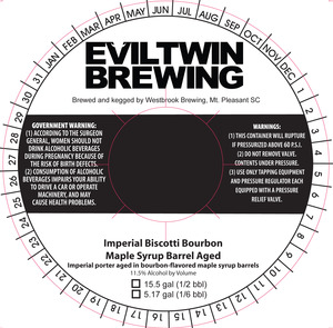 Evil Twin Brewing Imperial Biscotti Bourbon Maple Syrup Ba