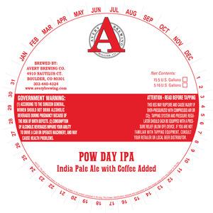 Avery Brewing Co Pow Day IPA