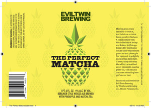 Evil Twin Brewing The Perfect Matcha