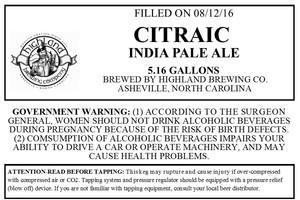 Highland Brewing Co. Citraic