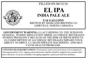 Highland Brewing Co. El IPA
