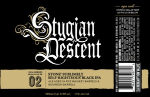 Stone Sublimely Self-righteous Black Ipa Stygian Descent