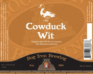 Bog Iron Brewing Cowduck Wit