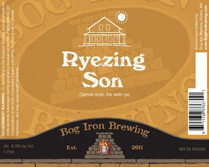 Bog Iron Brewing Ryezing Son