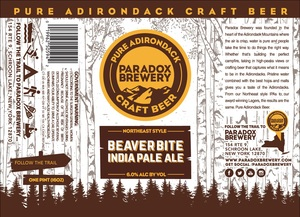 Paradox Brewery Beaver Bite India Pale Ale