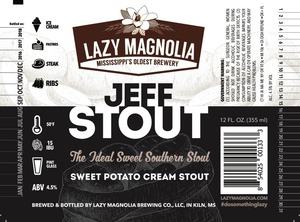 Lazy Magnolia Brewing Company Jeff Stout