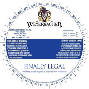 Weyerbacher Finally Legal