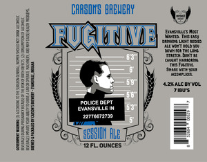 Carson's Brewery Fugitive