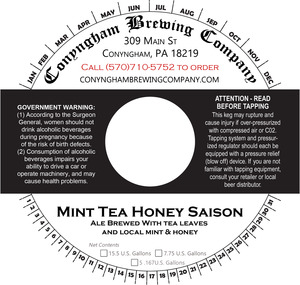 Conyngham Brewing Company Mint Tea Honey Saison