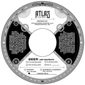Atlas Brew Works Hanks Pale