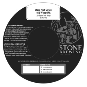 Stone Pilot Series 612 Wheat IPA