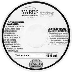 Yards Brewing Company The Punter Ale