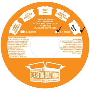 Carton Brewing Co. Unjunct