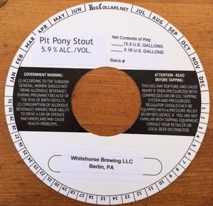 Whitehorse Brewing, LLC Pit Pony Stout