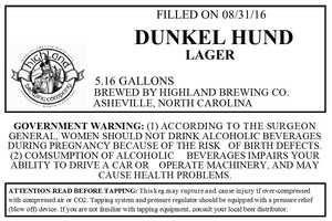 Highland Brewing Co. Dunkel Hund