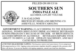 Highland Brewing Co. Southern Sun