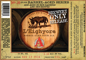 Avery Brewing Co. L'eighyore Barrel-aged Sour