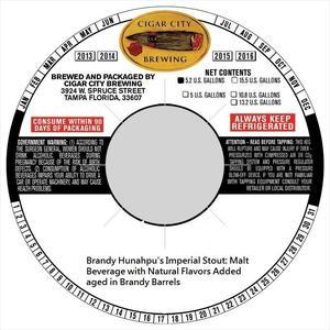 Brandy Barrel Hunahpu's Imperial Stout Brandy Barrel Hunahpu's Imperial Stout September 2016