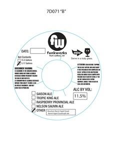 Funkwerks, Inc. Bourbon Barrel-aged Quad