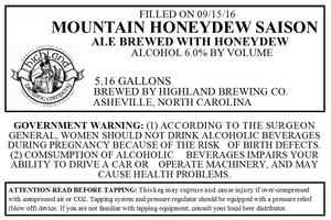 Highland Brewing Co. Mountain Honeydew