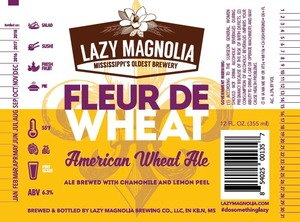 Lazy Magnolia Brewing Company Fleur De Wheat