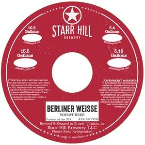 Starr Hill Berliner Weisse