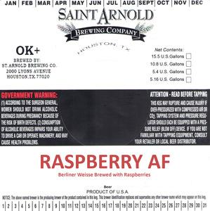Saint Arnold Brewing Company Raspberry Af