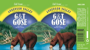 Anderson Valley Brewing Company G&t Gose