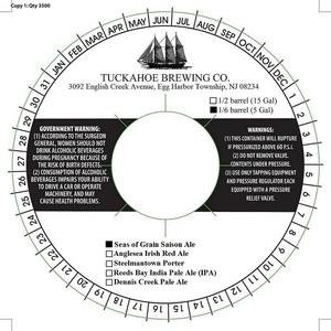 Tuckahoe Brewing Company Seas Of Grain Saison Ale