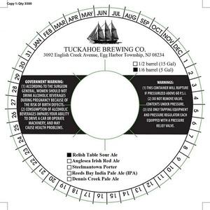 Tuckahoe Brewing Company Relish Table Sour Ale