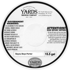 Yards Brewing Company Bayou Boys Porter