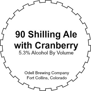 Odell Brewing Company 90 Shilling With Cranberry