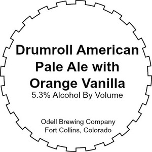 Odell Brewing Company Drumroll With Orange Vanilla
