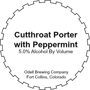 Odell Brewing Company Cutthroat Porter With Peppermint
