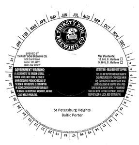 Thirsty Dog Brewing Company St Petersburg Heights Baltic Porter