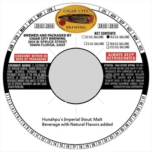 Cigar City Brewing Hunahpu's Imperial September 2016