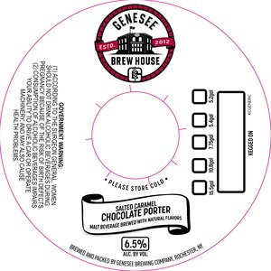 Genesee Brew House Salted Caramel Chocolate Porter