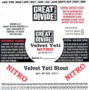 Great Divide Brewing Company Velvet Yeti