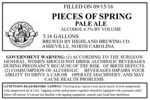 Highland Brewing Co. Pieces Of Spring