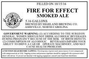 Highland Brewing Co. Fire For Effect