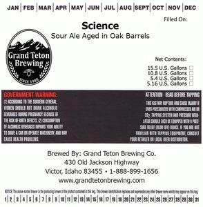 Grand Teton Brewing Company Science