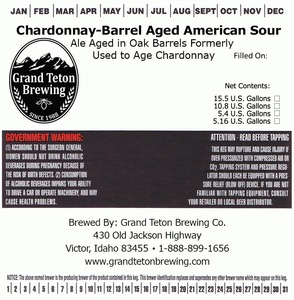 Grand Teton Brewing Company Chardonnay-barrel Aged American Sour