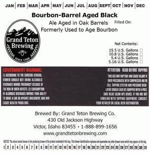 Grand Teton Brewing Company Bourbon-barrel Aged Black