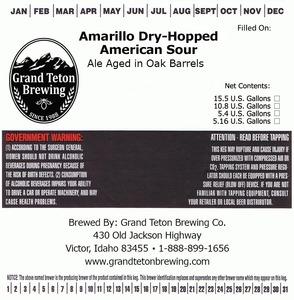 Grand Teton Brewing Company Amarillo Dry-hopped American Sour