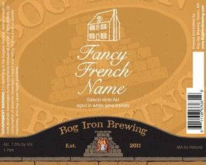 Bog Iron Brewing Fancy French Name