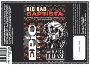 Epic Brewing Company Big Bad Baptista