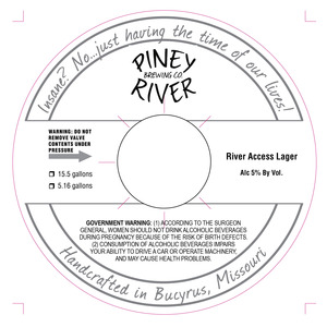 Piney River Brewing Co. River Access