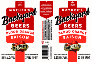 Mother's Brewing Company Blood Orange Saison