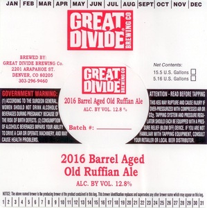 Great Divide Brewing Company Barrel Aged Old Ruffian