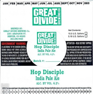 Great Divide Brewing Company Hop Disciple